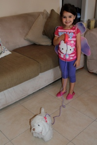 Annabell with her birthday gift from Jesus